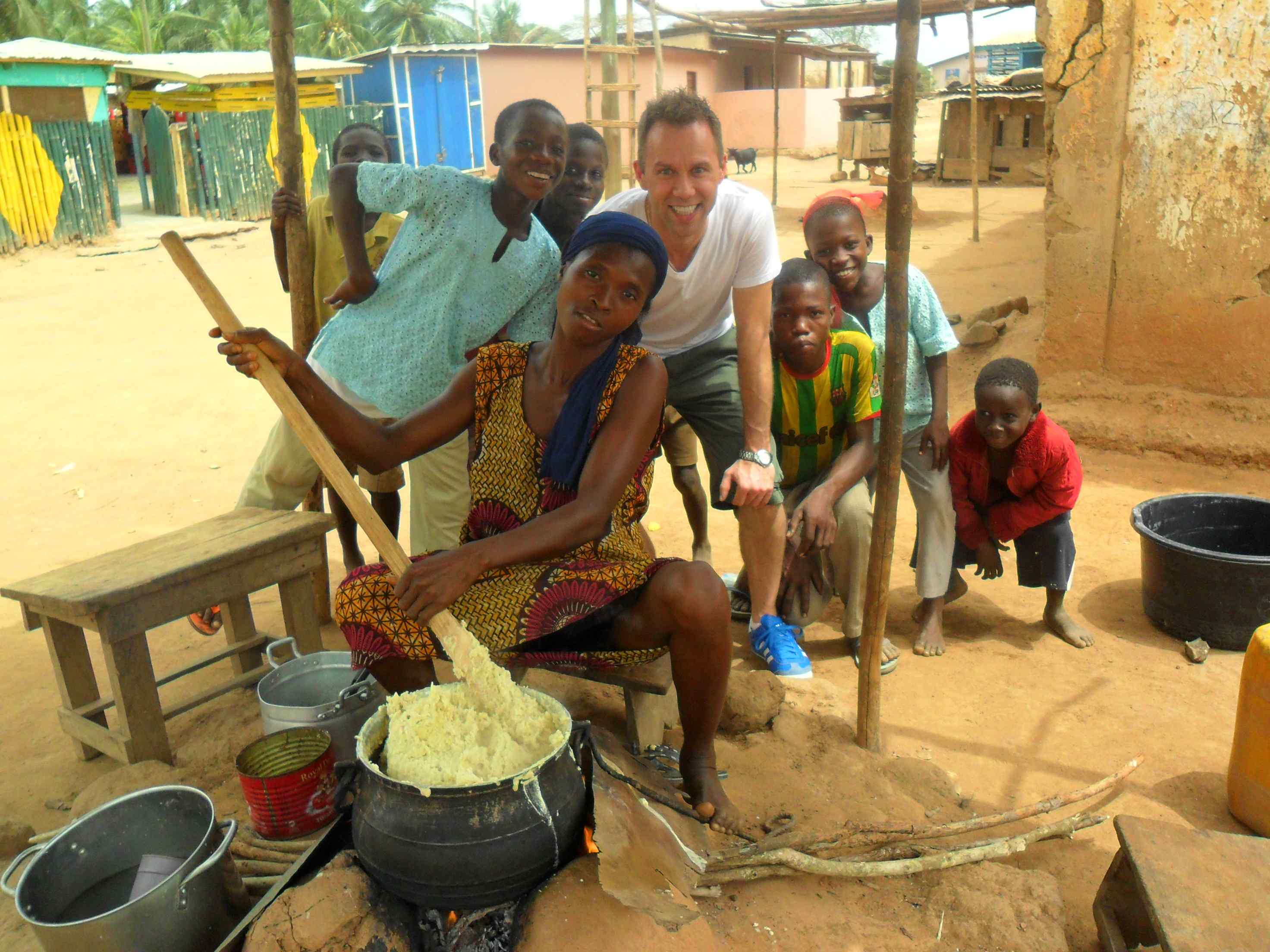Jeffery Straker in a Village in Ghana
