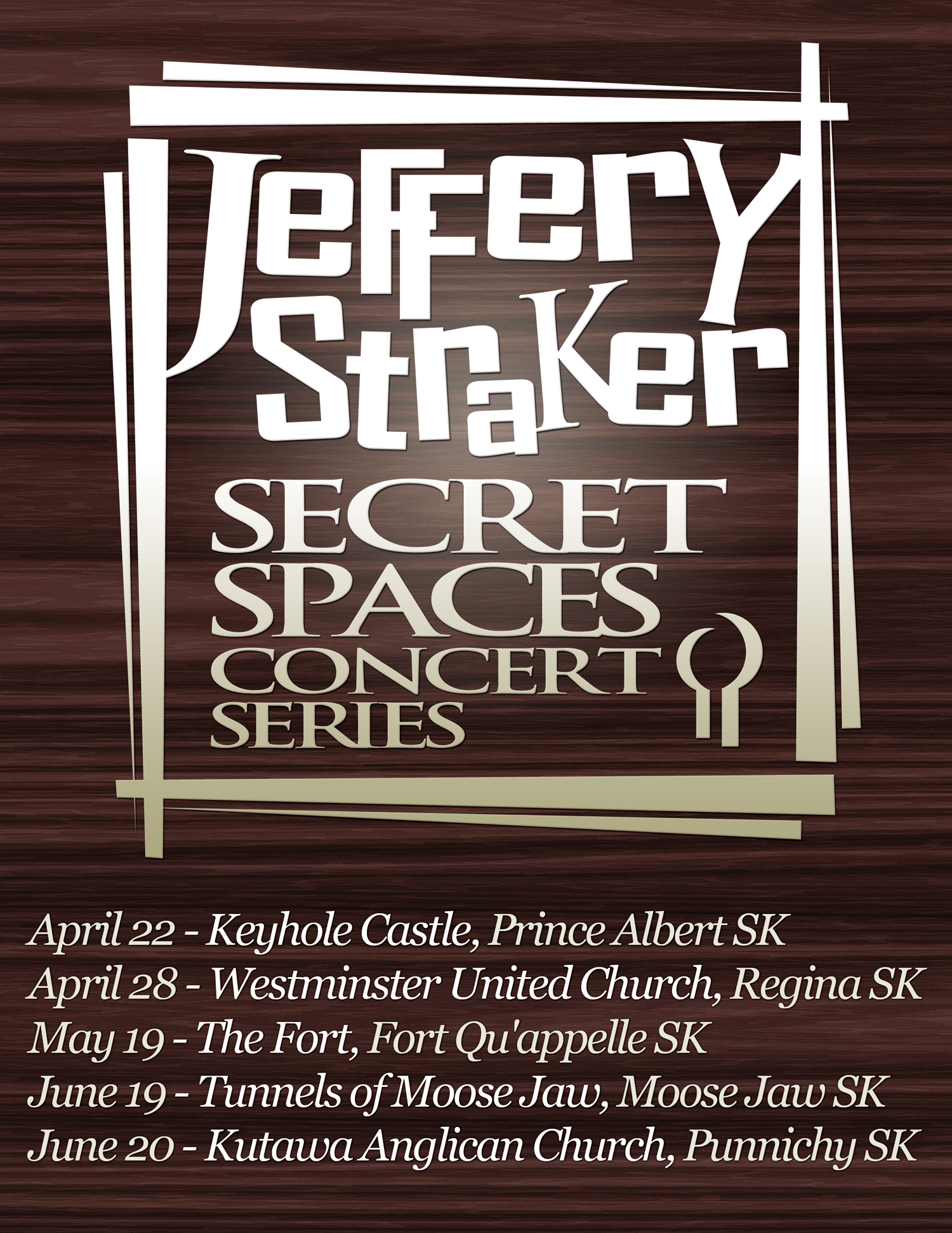 Jeffery Straker Secret Spaces Tour