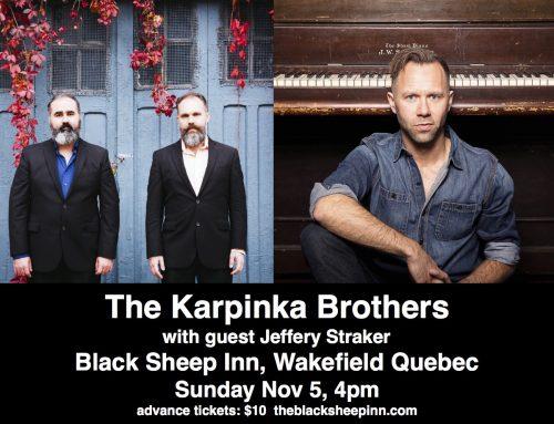 Georgetown ON (Nov 3), Wakefield QC (Nov 5), and a ballet of my songs